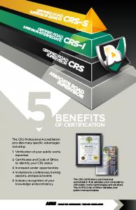 CRS Program 2016 Cover